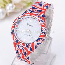 Reloj caliente de los hombres de la venta de la bandera de Reino Unido 2014
