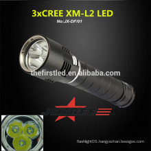 JEXREE Magnetic 3led cree xml2 led dive torch