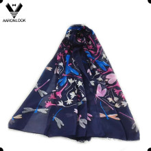 2016 High Quality 100%Silk Dragonfly Summer Spring Scarf