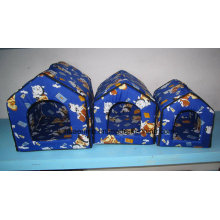 Three Sets Cartoon Dog Pattern Blue Bed