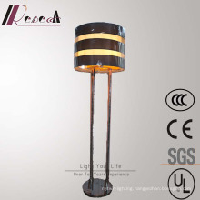 European Hotel Decorative Amber Fiber Iron Floor Lamp