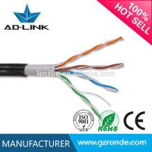 Cable LAN para cableado exterior al aire libre CCA cable de cobre al aire libre BC cable OFC cat5e sólido