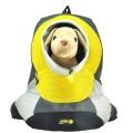 Mochila grande de PVC y malla para mascotas de color amarillo