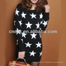 13STC5669 mais recente projeto ladies '2013 tricô padrão mulheres camisola vestido