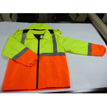 Two Tone Reflective Safety Coat with Quilting