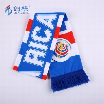 High Quality Custom Design Digital Printing Football Scarf