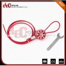 Elecpopular High Demand Produkte Wiederverwendbare Sicherheits-Rad-Typ Kabelverriegelungen