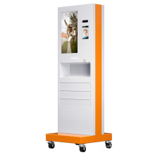Face Recognition Terminal Temperature Measurement Kiosk with Touchless Hand Sanitizer Dispenser