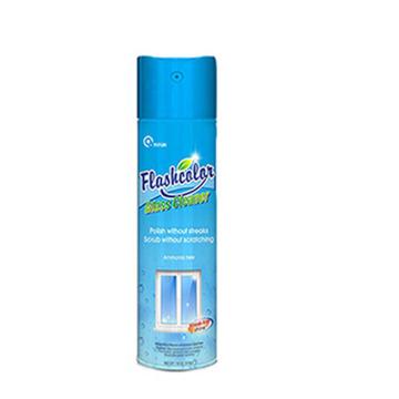 Botella de spray limpiador de ventanas espumoso sin rayas