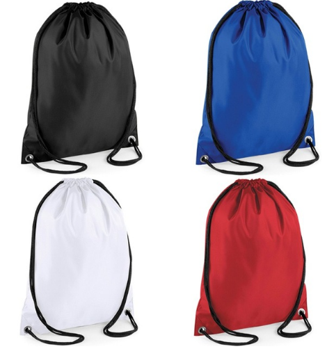 sport nylon packsack bag with draswtring
