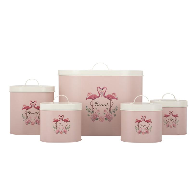 Pink Bread Bin Set