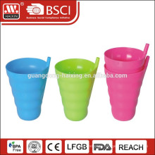 Large Plastic Straw Cup With Straw