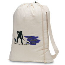custom commercial drawstring cotton canvas laundry bags canvas recycle big laundry bag