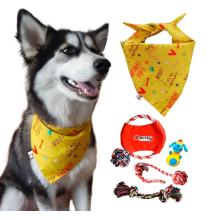 Dog Bandana Plus Set of 5 Dog Toys