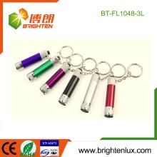 Factory Bulk Verkauf LR41 Button Cell Operated Pocket Günstige Werbe-Aluminium kleine Mini LED Taschenlampe Schlüsselbund