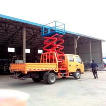 Antena de alta Altitude trabalhando caminhão plataforma