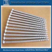 Acero de carbono medio Hardend 7.5 * 132 mm Tornillo de hormigón de plata
