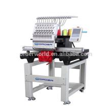 cabeça única máquina de bordar de 15 cores Máquina e máquina de bordar computadorizada de boné e t-shirt