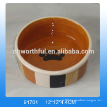 Modern design wholesale ceramic cat bowls,ceramic dog bowls in high quality