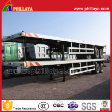 40FT Container Transport Flat Bed Semi Trailer for North Africa