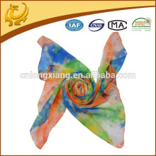 Colorful Flower Printed Fashion Lady Scarf