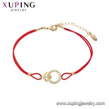 75539 xuping последняя мода горячая распродажа с 14k позолоченный браслет оптом