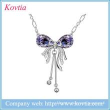 2015 любовника серии ювелирных щепка кисточкой ожерелье длинной цепочке кулон аметист бабочка сплава ожерелье