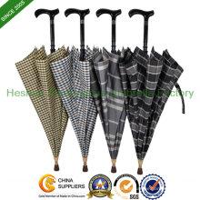 Unzerbrechlichen doppelten Zweck Spazierstock Schirm mit verstellbaren Griff (SU-0023AAFH)