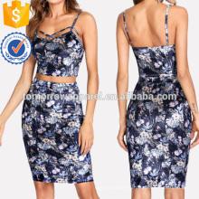 Tropical Print Samt & Rock Set Herstellung Großhandel Mode Frauen Bekleidung (TA4073SS)