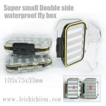 Super petit coffre de pêche à la mouche en plastique imperméable à l'eau double