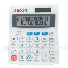 12 Digits Dual Power Desktop Calculator with Rounding Selection and Tax Function (LC229T-WHITE)