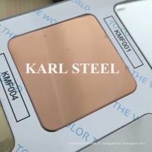 Folha de aço inoxidável do espelho 8k Kmf004 da cor para materiais da decoração