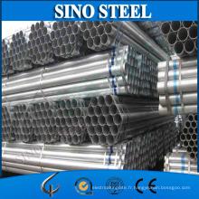 Tuyau rond en acier galvanisé pour matériaux de construction