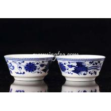 Blue Phoenix Painting Big Cup Keramik Cup