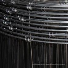 Valla de malla de alambre de acero anudado de hierro galvanizado