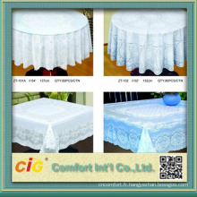 PVC, tissu de table blanc et or fabriqué en Chine