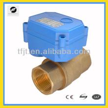 2 vías de latón 12 v DN32 2 cables de control de válvula de bola eléctrica para lavadoras sistema de control automático