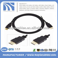 BRAND NEW PREMIUM BLACK HDMI cable M/M Male AV Video Cable Gold Plated HDTV 5FT 1.5m