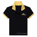 Black Men′s Contrast Color Polo Shirt