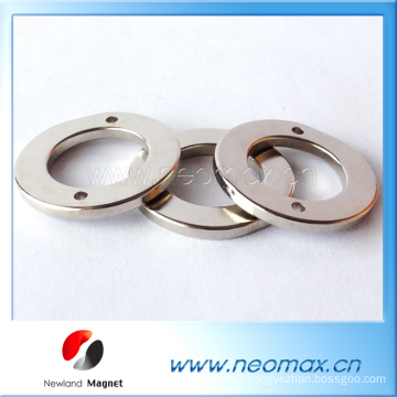 Silver ring N52 magnet China factory Neodymium magnet