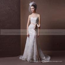 Stunning Design Mermaid Heart Shape Exquisite Applique Lace & Beads Wedding Dress With Sash