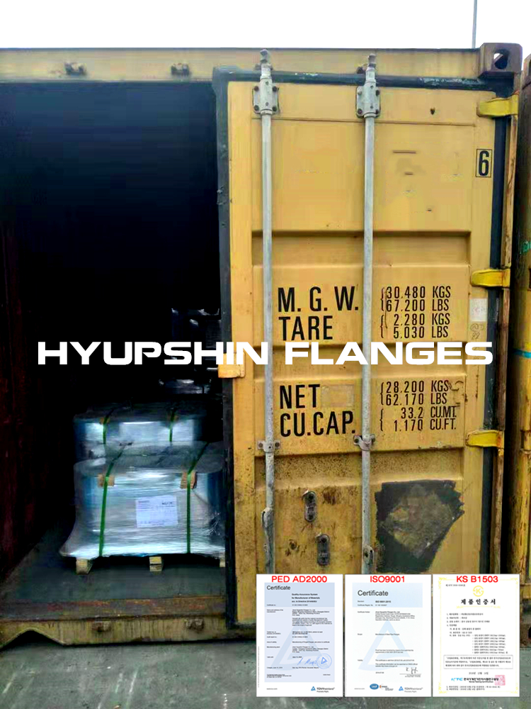Hyupshin Flanges Delivery Seatransport Shipment