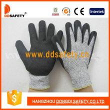 Gants de sécurité de trempage en nitrile sablé de résistance à la coupure (DCR440)