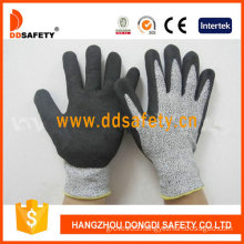 Cut Resistance Sandy Nitrile Dipping Safety Gloves (DCR440)