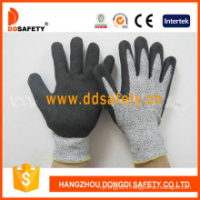 Cut Resistance Sandy Nitrile Dipping Safety Gloves Dcr440
