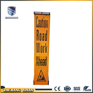 Portable telescopic drunk driving car warning signs board