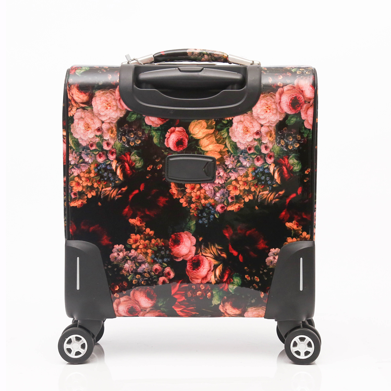 Caster suitcase pu luggage