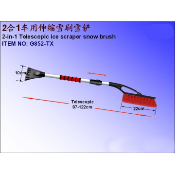 2-in-1 Telescopic Car Ice Scraper Snow Brush