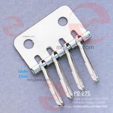 Accessoires en métal nickel brillant du portefeuille porte-clés