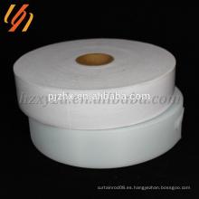 Venta directa de fábrica de poliéster blanco gancho y cintas de lazo en rollos